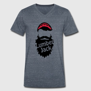 Lumberjack - Men's Organic V-Neck T-Shirt by Stanley & Stella