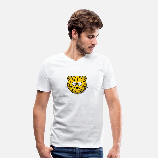 Leopard T-Shirts - leopard - Men's Organic V-Neck T-Shirt white