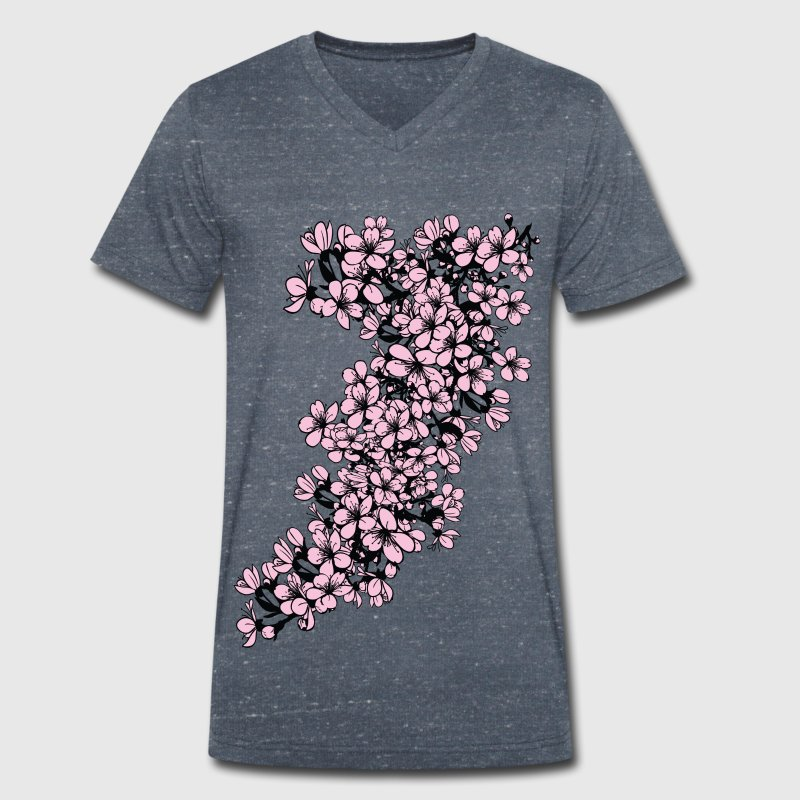 sakura cherry blossom - Men's Organic V-Neck T-Shirt by Stanley & Stella