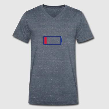 Low battery symbol 0 - Men's Organic V-Neck T-Shirt by Stanley & Stella