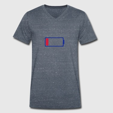 Low Battery Low battery symbol 0 - Men's Organic V-Neck T-Shirt by Stanley & Stella