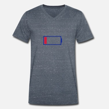 Battery Symbol Low battery symbol 0 - Men's Organic V-Neck T-Shirt by Stanley & Stella
