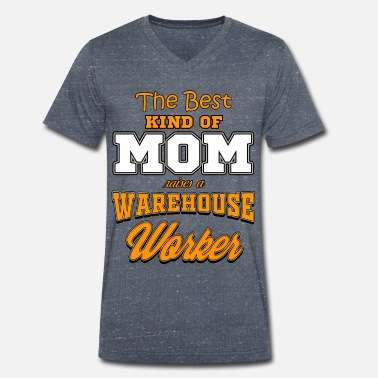 Worker WAREHOUSE WORKER MOM - Men's Organic V-Neck T-Shirt