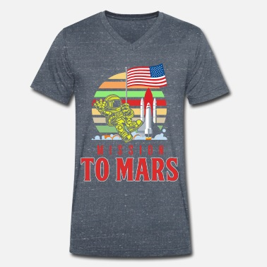Occupy Mission to Mars - Men's Organic V-Neck T-Shirt