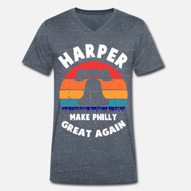 Liberty Bell Harper Gjør Philly Great Again Liberty Bell Funny - T-skjorte med V-hals for menn