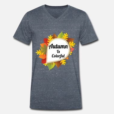 Colored autumn - Men's Organic V-Neck T-Shirt