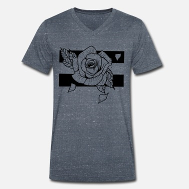 Tatoo Rose Tattoo Style - T-shirt bio col V Homme
