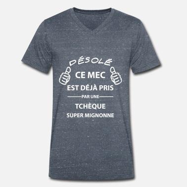 9ac014f1794c8 Copain Copain d  39 une Tchèque - T-shirt bio col V Stanley