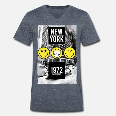 Usa Smileyworld 'New York Statue of Liberty' - Men's Organic V-Neck T-Shirt