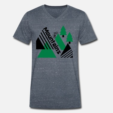 Mountain Mountain bike mountains - Men's Organic V-Neck T-Shirt