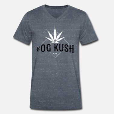 Smoke Hemp kush weed hemp smoking cannabis - Men's Organic V-Neck T-Shirt by Stanley & Stella