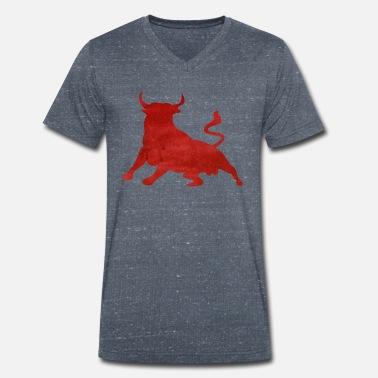 1f7dbcef94e6 Taureau Rouge T-shirt dangereux - T-shirt bio col V Stanley  amp