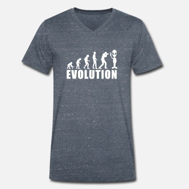 Alien Evolution EVOLUTION ALIEN - Men's Organic V-Neck T-Shirt