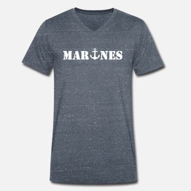 Marine Marines - Men's Organic V-Neck T-Shirt