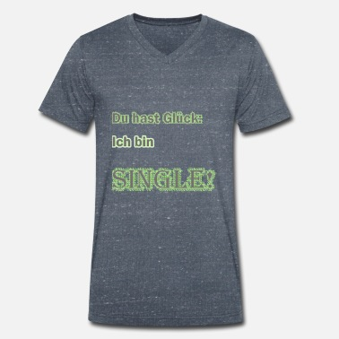 Single single - Mannen V-hals bio T-shirt
