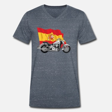 Bainderas Motorcycle with Spain's abdnera - Men's Organic V-Neck T-Shirt