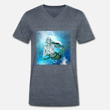 Prunk Wonderful mermaid in the deep ocean - Men's Organic V-Neck T-Shirt