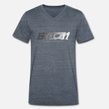 Sector Bitcoin it's time for revolution - Men's Organic V-Neck T-Shirt