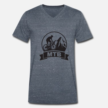 Mountain bike - Transalp - Men's Organic V-Neck T-Shirt