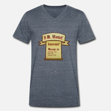 Dm DM Wanted! - Men's Organic V-Neck T-Shirt