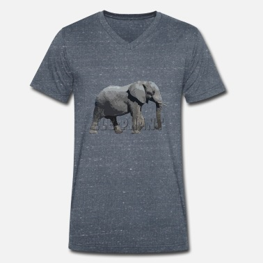 Elephant related products 2 - Men's Organic V-Neck T-Shirt