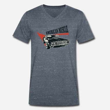 Fighter American muscle car Dogde Charger V8 supercharger - Men's Organic V-Neck T-Shirt