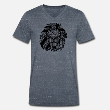 Lion Lioness lion - Men's Organic V-Neck T-Shirt by Stanley & Stella