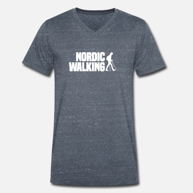 Marche nordique Sport Endurance Fitness Outdoor - T-shirt bio col V Stanley & Stella Homme