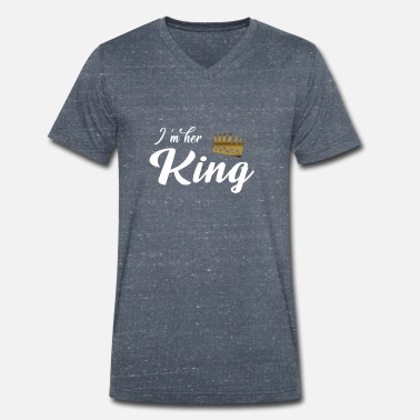 King In her King - Men's Organic V-Neck T-Shirt