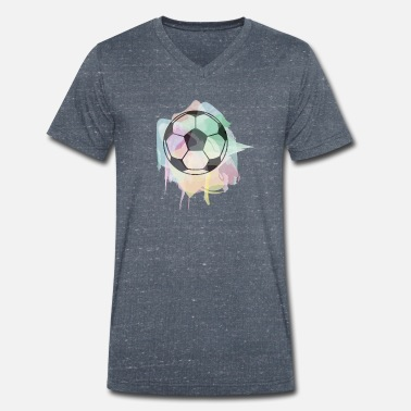 I Love Football Footballer Love Sport Ball Game Gift - Men's Organic V-Neck T-Shirt