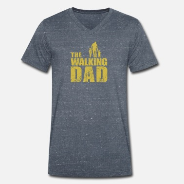 The Walking Dad The Walking Dad - Männer Bio T-Shirt mit V-Ausschnitt