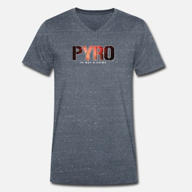 Ultras Pyro Pyro is not a Crime Ultra Gift Football - Men's Organic V-Neck T-Shirt by Stanley & Stella