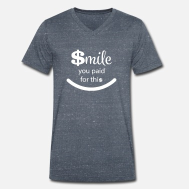 Course Smile gift runner obstacle course competition fan - Men's Organic V-Neck T-Shirt