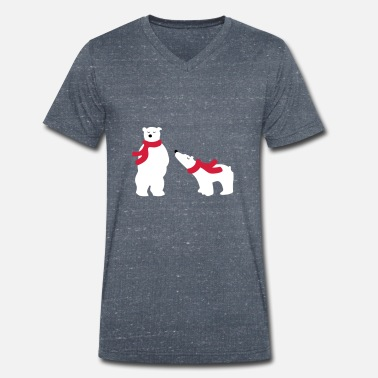 Bear polar bears - Men's Organic V-Neck T-Shirt