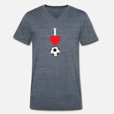 I Love Football I love football gift idea - Men's Organic V-Neck T-Shirt