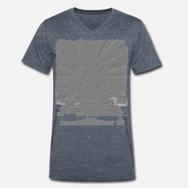 Relief Yamato relief - Men's Organic V-Neck T-Shirt