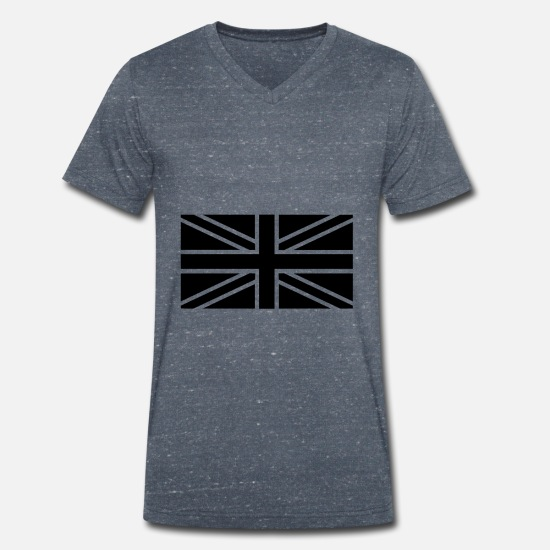 Symbol  T-Shirts - England Union Jack No Brexit - Men's Organic V-Neck T-Shirt heather navy