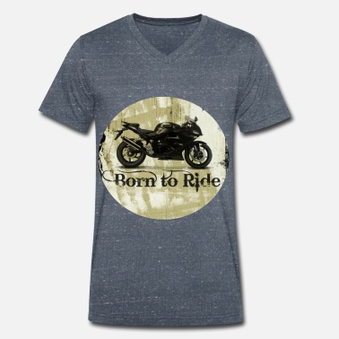 Renner Born to ride - Men's Organic V-Neck T-Shirt