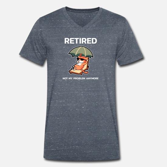 Funny T-Shirts - Funny Retirement Shirt For Recently Retired - Men's Organic V-Neck T-Shirt heather navy