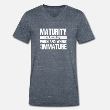 Mature Maturity - Men's Organic V-Neck T-Shirt