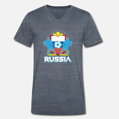 Officialbrands World Soccer Russia / Football Love T-Shirt - Ekologisk T-shirt med V-ringning herr från Stanley & Stella