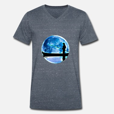 Full Moon full moon - Men's Organic V-Neck T-Shirt