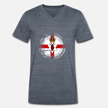 Country Northern Ireland symbol country gift - Men's Organic V-Neck T-Shirt