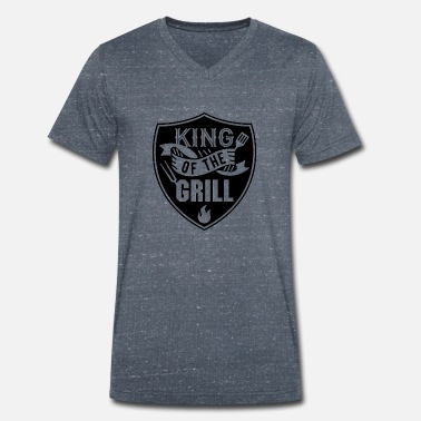 Grill King of the Grill Limited - T-shirt med V-ringning herr
