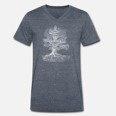 Chaman Yggdrasil the World Tree (pour les fonds sombres) - T-shirt bio col V Homme