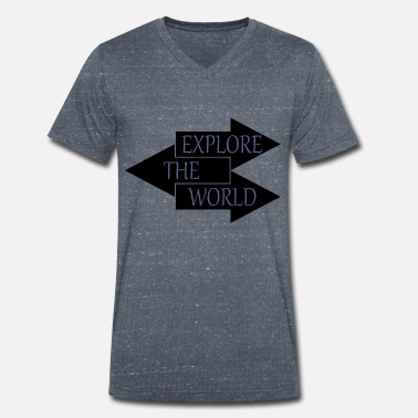 World Series Explore The World - T-shirt ecologica da uomo con scollo a V di Stanley & Stella