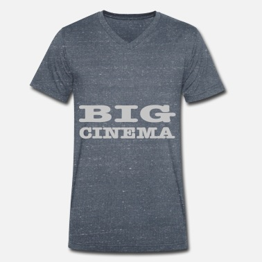 Cinema Big cinema, big cinema - Men's Organic V-Neck T-Shirt