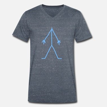 Stick Man Stick Man - Men's Organic V-Neck T-Shirt