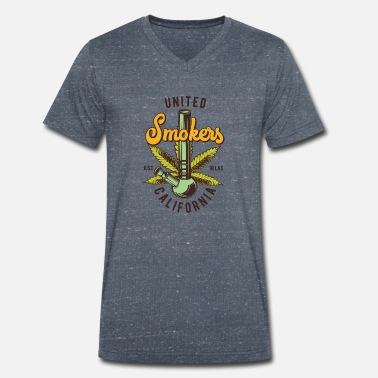 Smoker SMOKERS - Men's Organic V-Neck T-Shirt