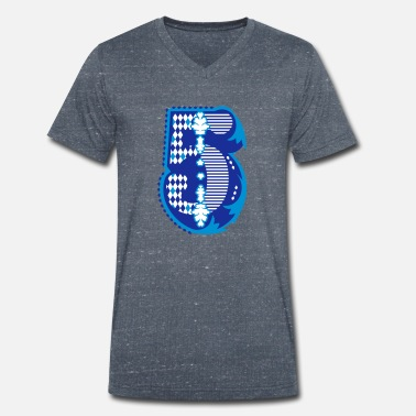 Special Number Number five with ornamentation for special occasions - Men's Organic V-Neck T-Shirt